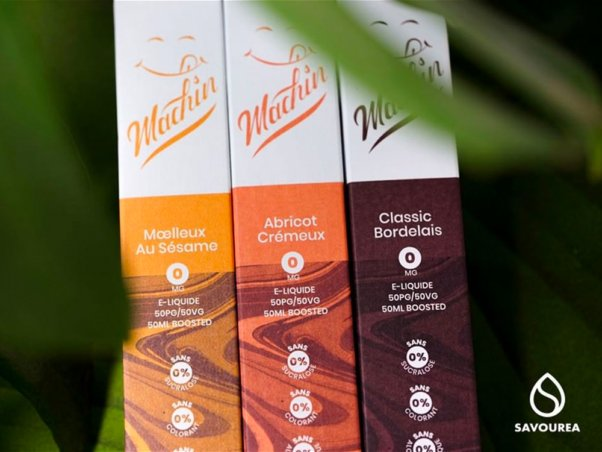 Design packaging e liquide Machin Savourea