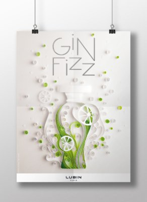 Gin Fizz - Quilling