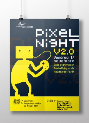 Pixel Night - Conception graphique