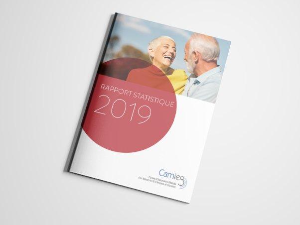 CAMIEG | Rapport statistique 2018 | 2019 - Conception graphique