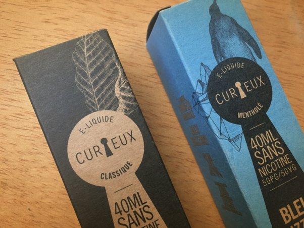 Packaging e-liquide Curieux - Édition Classique - Étiquette