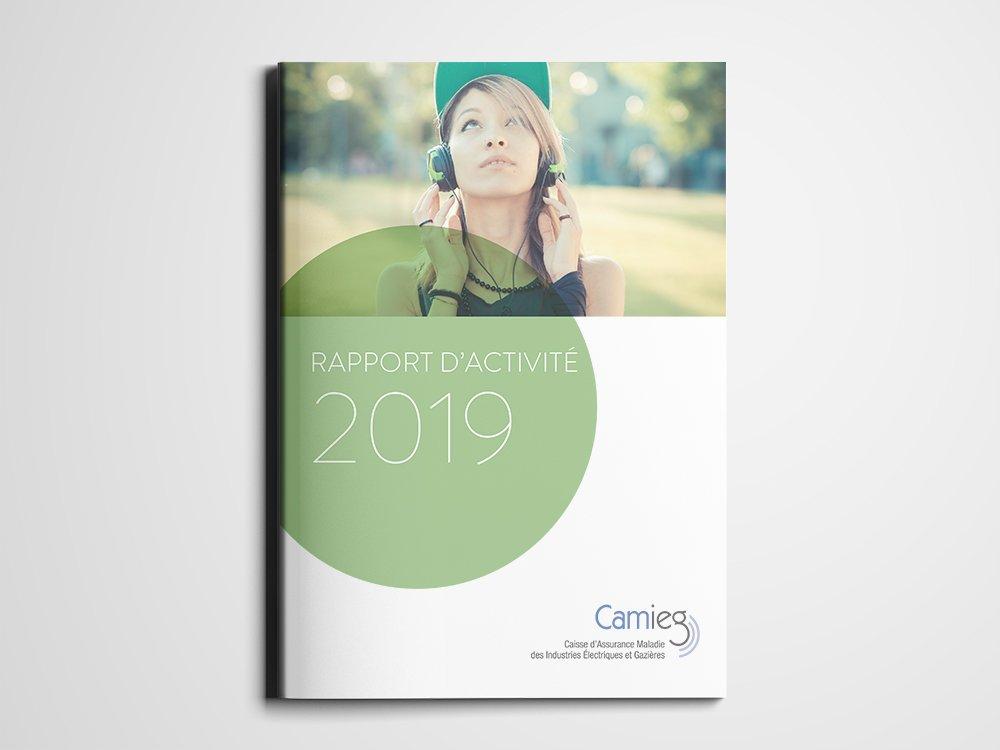 CAMIEG   Rapport d'activité 2018   2019 - Conception graphique
